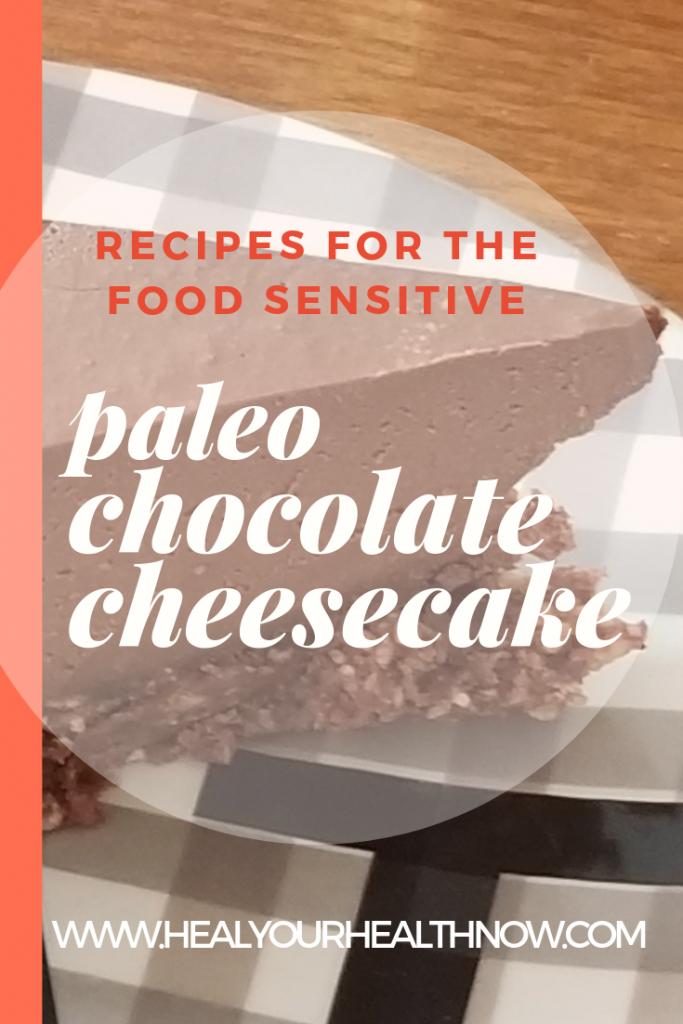 """Paleo Chocolate No-Bake """"Cheesecake"""""""