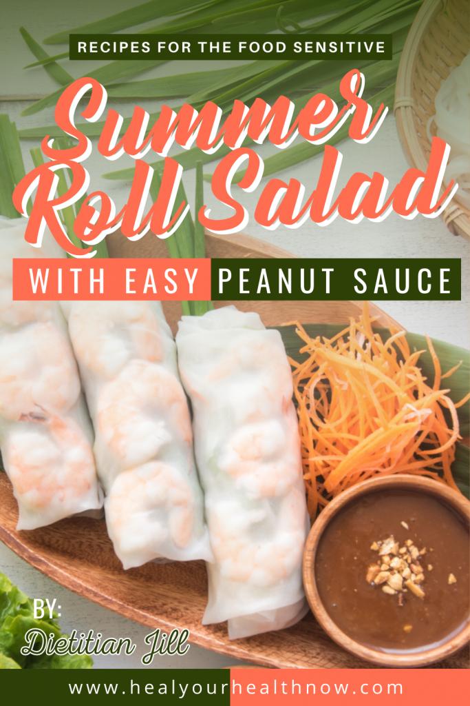 Summer Roll Salad with Easy Peanut Sauce