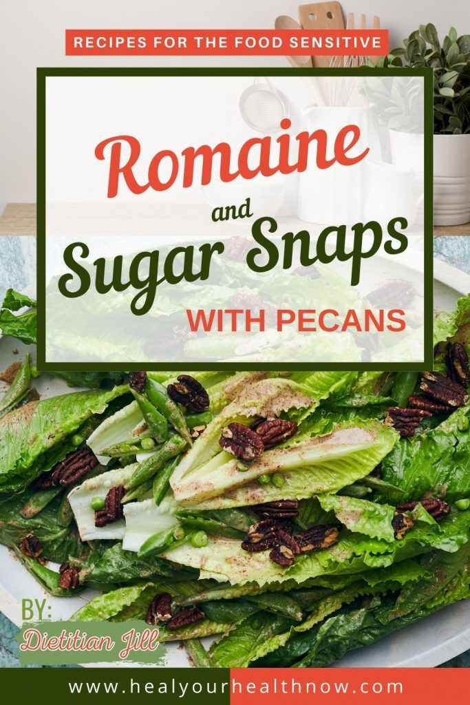Romaine and Sugar Snaps with Pecans