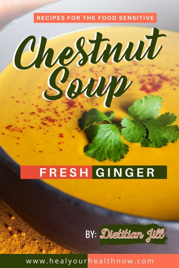 Chestnut Soup with Fresh Ginger