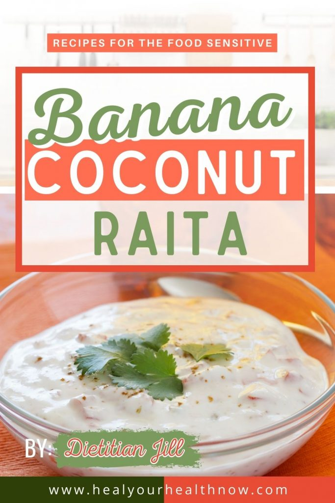 Banana Coconut Raita